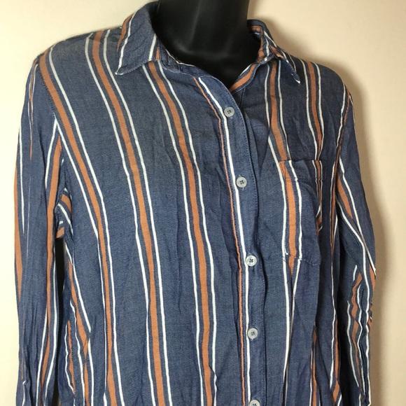 c969099d Universal Thread Tops | Womens Striped Button Down Shirt Szs | Poshmark